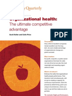 Organizational Health - The Ultimate Competitive Advantage