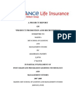 A Project Report on Reliance Life Insurance