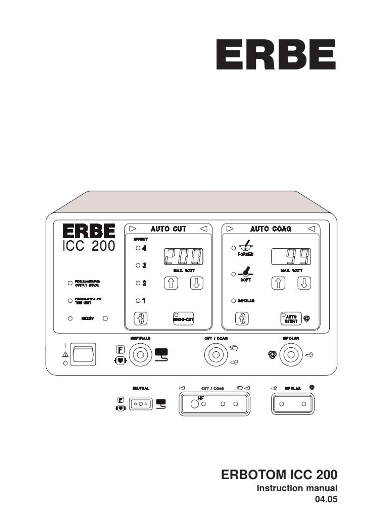 80104-401_ERBE_EN_ICC_200_E_EA__D010308 | Electrical Connector | Artificial  Cardiac Pacemaker