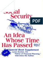 Social Security - An Idea Whose Time Has Passed