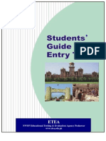 Students Guide for Entry Test Info]