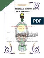 Los Directores de Los Establecimientos Educativos de La Red 306 de La Ciudad de La Paz Tienen El Conocimiento Suficiente Acerca de Los Principios Administrativos