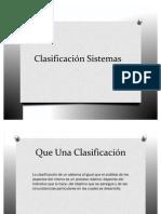 Clasificación Sistemas