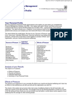 PMI Personal Profile Sample Report - Sam Sample