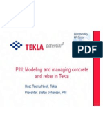 Pihl_Modeling and Managing Concrete and Rebar in Tekla