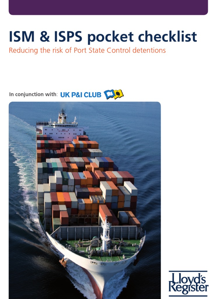 ISM and ISPS Checklist | Water Transport | Shipping