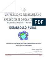 Desarrollo Rural. Alternativas Conceptuales...