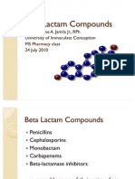 Beta Lactam Compounds