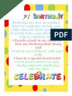 Ways to Celebrate Birthdays
