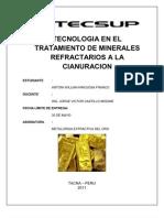 Tecnologia en El Tratamiento de Minerales Refract a Rio a La Cianuracion