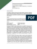 2009 Cumplimiento de las Metas de Ahorro y de Ajuste Presupuestario en la Secretaría de Comunicaciones y Transportes