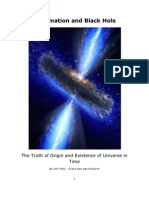 Information and Black Hole - Truth of Origin and Universal Existence in Time