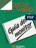 INSHT Guía del Monitor de Seguridad en el Trabajo