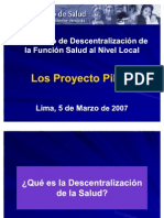 Descentralizacion de La Salud a Nivel Local