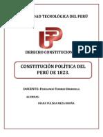 Contitucion de 1823 del Perú.