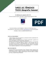 Glosario de Terminos Geograficos (Geografia Humana)