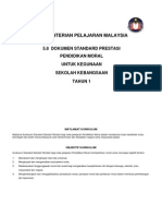 5.8 Dokumen Standard Prestasi KSSR (Pendidikan Moral) Tahun 1