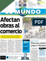 Portada El Mundo de Tehuacán 6 de julio de 2011