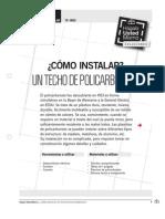 instalar techo policarbonato