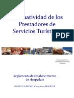 Normatividad Pres Tad Ores de Servicios Turisticos