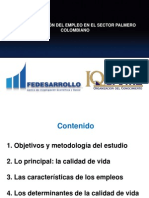 CARACTERIZACION DEL EMPLEO EN EL SECTOR PALMERO COLOMBIANO