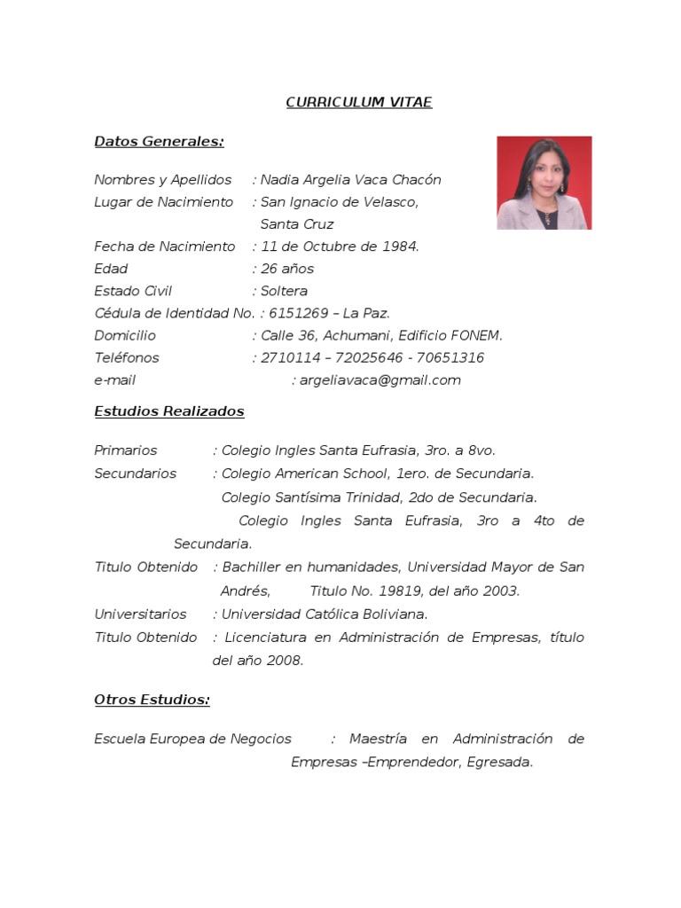 Curriculum Vitae 2010