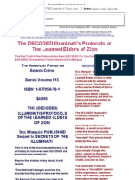 The DECODED Illuminati's Protocols of the Learned Elders of Zion