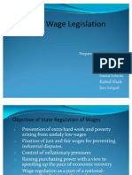 Minimum Wages Legislation