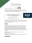 Write a Lesson Plan Guide