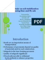 A STUDY ON SOIL STABILIZATION USING LIME AND FLY ASH