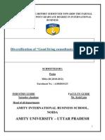 Diversification of Good Living Consultants Pvt. Ltd.