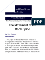 Movement of the Book Spine, Tom Conroy