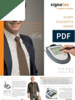 signotec Produktflyer Signaturpad Omega (dt.)