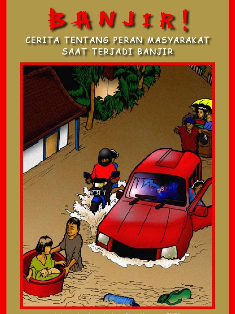 Gambar Ilustrasi Bencana Alam Banjir