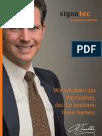 signotec Imagebroschüre