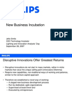Philips New Biz Incubation Approach