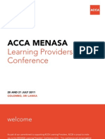 ACCA MENASA Learning Providers' Conference Brochure