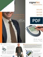 signotec Product Flyer Signaturepad Omega (eng.)