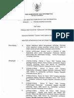Permenkominfo Nomor 11-Per-M.kominfo-02-2006 Teknis Penyadapan Terhadap Informasi