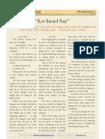 """Psalm 124 v1 - """"Let Israel Say"""""""
