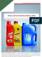 China Lube Market - 2009