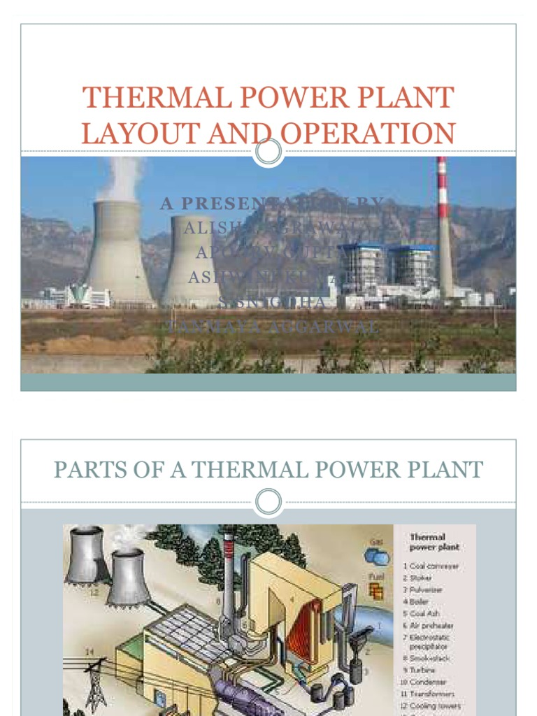 Thermal Power Plant Ppt Nuclear Layout And Operation