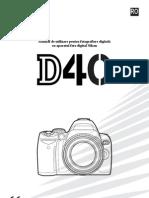 Manual de Utilizare Nikon D40