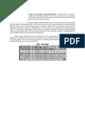 BCD - ASCII | Binary Coded Decimal | Ascii