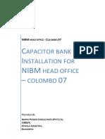 Capacitor Bank Installation