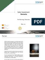 Solar Investment Romania May 2011