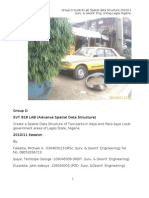Spatial Data Structure of Taxi Parks in Lagos, Nigeria. Lab Reportnew