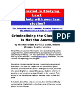 Interested in Studying Law