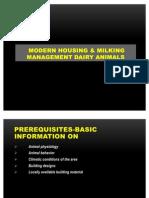 Modern Housing & Milking Managemnt