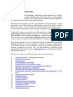 Public Procurement Checklist